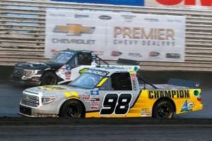 Grant Enfinger, ThorSport Racing, Toyota Tundra Champion / Curb Records, Hailie Deegan, Team DGR, Ford F-150 Toter / Engine Ice