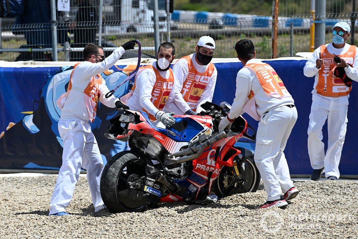 Crash of Tito Rabat, Pramac Racing