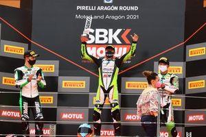 Tom Booth-Amos, Fusport - Rt Motorsports par SKM Kawasaki, Adrian Huertas, MTM Kawasaki, Yuta Okaya, MTM Kawasaki
