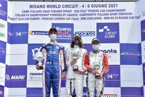 Podio Under25: Eric Brigliadori, BF Motorsport, Dušan Kouril, K2 Engineering, Ruben Volt, ALM Motorsport