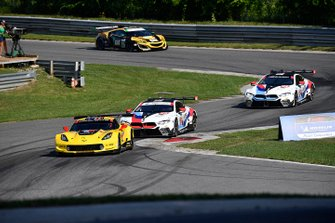 #4 Corvette Racing Corvette C7.R, GTLM: Oliver Gavin, Marcel Fassler, #24 BMW Team RLL BMW M8 GTE, GTLM: Jesse Krohn, John Edwards, #25 BMW Team RLL BMW M8 GTE, GTLM: Tom Blomqvist, Connor De Phillippi
