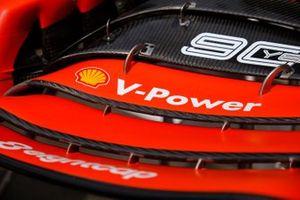 Detalle del alerón delantero Ferrari SF90