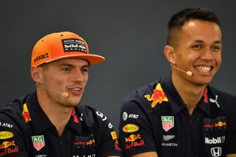Max Verstappen, Red Bull Racing, and Alexander Albon, Red Bull