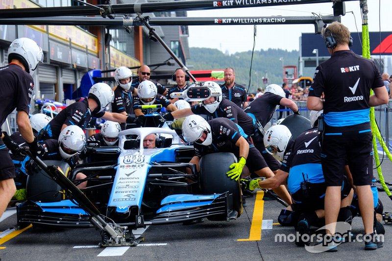 Williams pitstopoefening