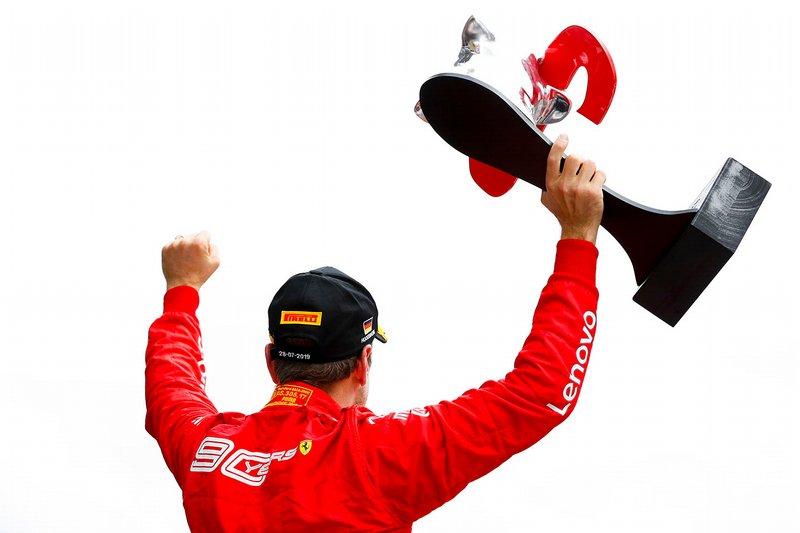 14. Sebastian Vettel, Ferrari: del 20º al 2º en el GP de Alemania 2019