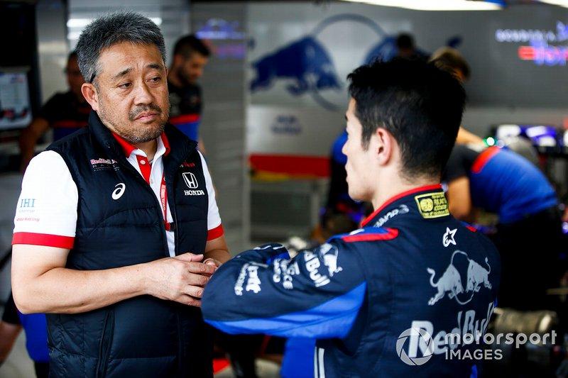 Masashi Yamamoto, directeur général Honda Motorsport et Naoki Yamamoto, Toro Rosso