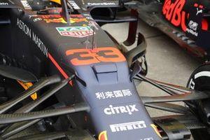 Detalle delantero del Red Bull Racing RB15