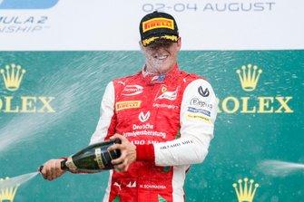 Podium : le vainqueur Mick Schumacher, Prema Racing