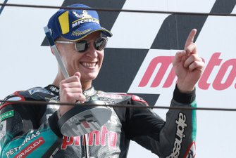 Podio: secondo classificato Fabio Quartararo, Petronas Yamaha SRT