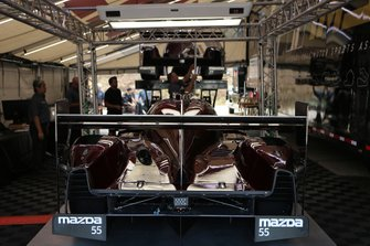 #55 Mazda Team Joest Mazda DPi: Jonathan Bomarito, Harry Tincknell, Olivier Pla go through Tech Inspection