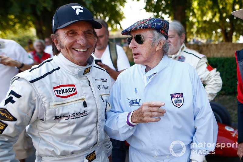 Emerson Fittipaldi and Sir Jackie Stewart