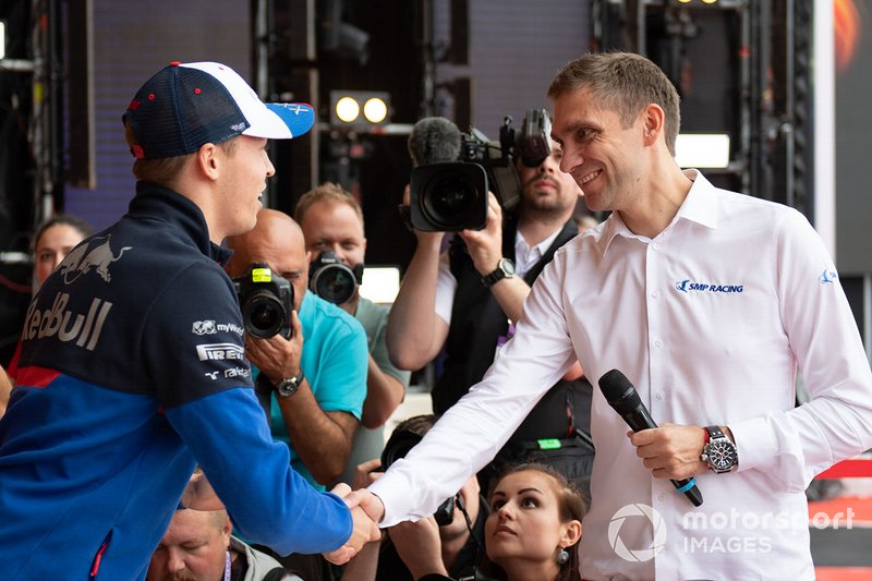 Daniil Kvyat, Toro Rosso, and Vitaly Petrov