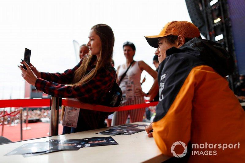 Lando Norris, McLaren, meets fans