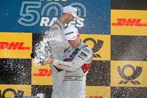 Podium: René Rast, Audi Sport Team Rosberg, Nico Müller, Audi Sport Team Abt Sportsline