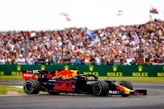Max Verstappen, Red Bull Racing RB15, spint na een crash met Sebastian Vettel, Ferrari SF90