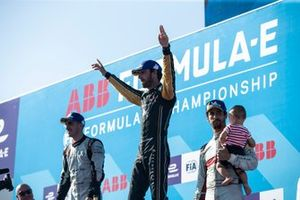 Ganador del campeonato. Jean-Eric Vergne, DS TECHEETAH, Sébastien Buemi, Nissan e.Dams, Lucas Di Grassi, Audi Sport ABT Schaeffler.