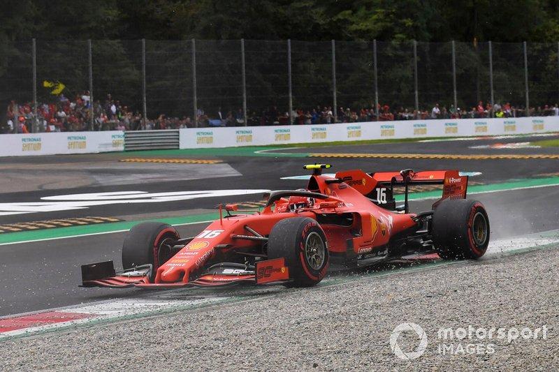 Ferrari подбадривает Леклера в квалификации