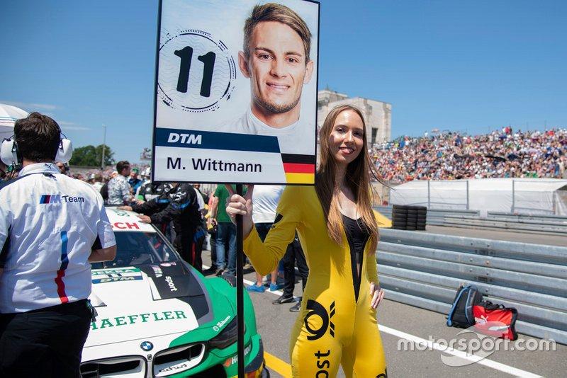 Grid girl, Marco Wittmann, BMW Team RMG, BMW M4 DTM