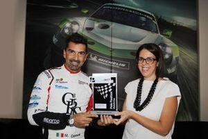 Il poleman della Michelin Cup Marco Cassarà, Ombra Racing