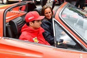 Charles Leclerc, Ferrari, op de parade
