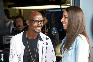 Olympian Sir Mo Farah with his wife Tania