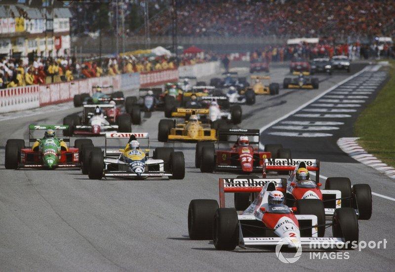 Лидируют Ален Прост и Айртон Сенна, McLaren MP4/5