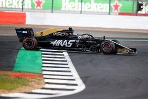 Romain Grosjean, Haas F1 Team VF-19 spins