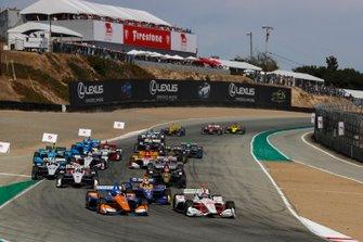 Start zum IndyCar-Finale 2019 in Laguna Seca: Colton Herta, Harding Steinbrenner Racing Honda, führt