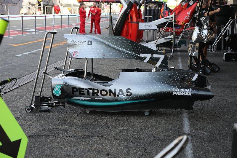 Detalle de la carrocería del Mercedes AMG F1 W10