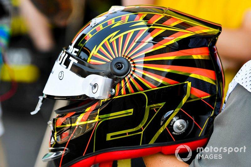 El casco de Nico Hulkenberg, del equipo Renault F1, para el GP de Alemania