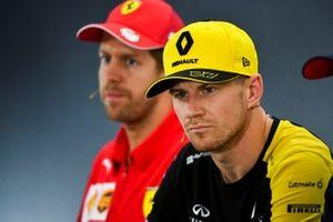 Nico Hulkenberg, Renault F1 Team ve Sebastian Vettel, Ferrari basın toplantısı