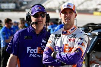 Denny Hamlin, Joe Gibbs Racing, Toyota Camry FedEx Freight and Christopher Gabehart