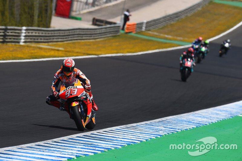 Маркес также побил рекорд по скорости прохождения гоночной дистанции в Хересе. До финиша Гран При он добрался на 31 секунду быстрее, чем в 2018-м