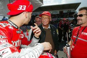 Niki Lauda with Marco Melandri