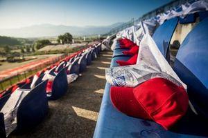 La casquette de Niki Lauda en tribune