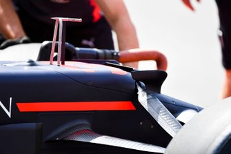 Pitot probe over the nose of the Red Bull Racing RB15