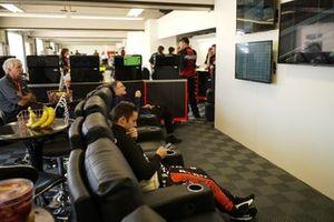 James Davison, Dale Coyne Racing Honda, lounge