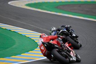 Maverick Vinales, Yamaha Factory Racing, Danilo Petrucci, Ducati Team