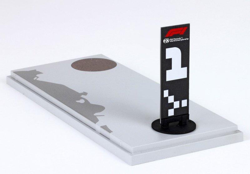 Масштабная модель победной таблички с Гран При Канады