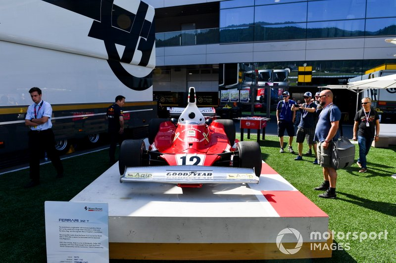 Ferrari 312T no paddock do Red Bull Ring