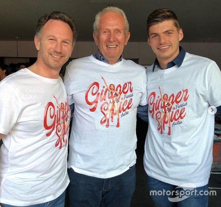 Christian Horner, Helmut Marko e Max Verstappen