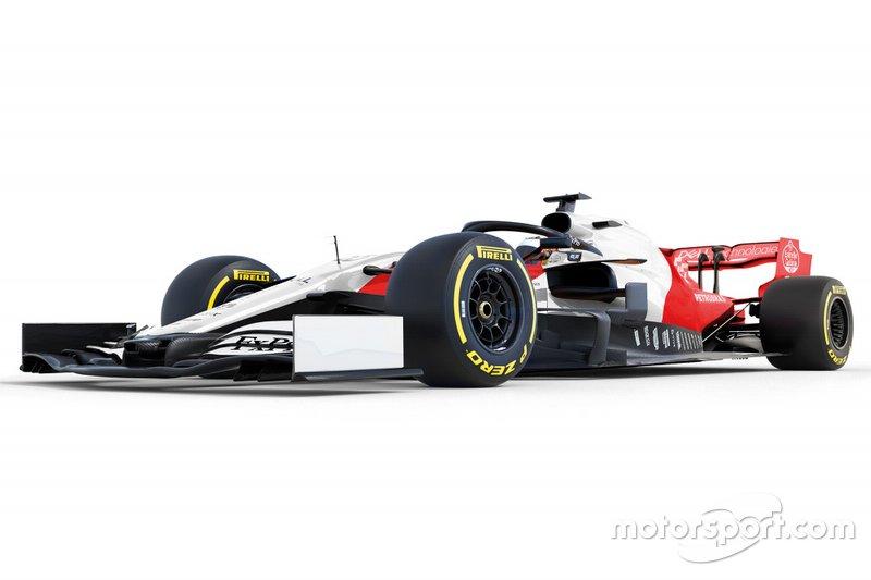 Designstudie: McLaren MCL34 in Rot und Weiß