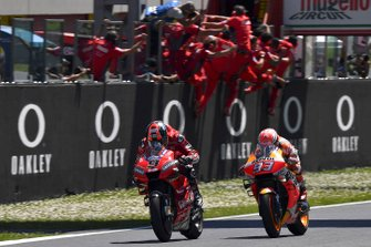 Race winner Danilo Petrucci, Ducati Team, second place Marc Marquez, Repsol Honda Team
