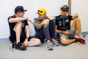 Max Verstappen, Red Bull Racing, Lando Norris, McLaren, and George Russell, Williams Racing