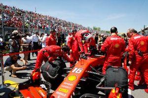 Charles Leclerc, Ferrari SF90, arrives on the grid