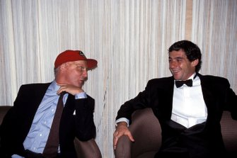 Niki Lauda and Ayrton Senna