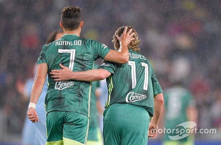 Cristiano Ronaldo e Pavel Nedved
