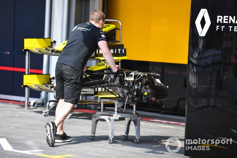 Eje trasero del Renault R.S.19