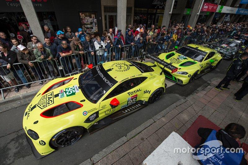 #95 Aston Martin Racing Aston Martin Vantage AMR; #97 Aston Martin Racing Aston Martin Vantage AMR