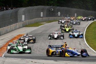 Inizio della gara di Alexander Rossi, Andretti Autosport Honda
